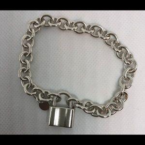 c170a3958 Tiffany & Co. Jewelry - TIFFANY 1837 Padlock Charm Chain Link Bracelet